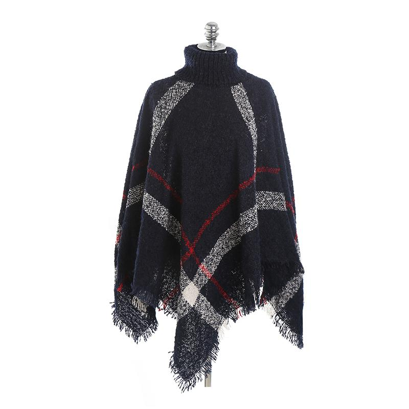 Plaid Cape Pullover