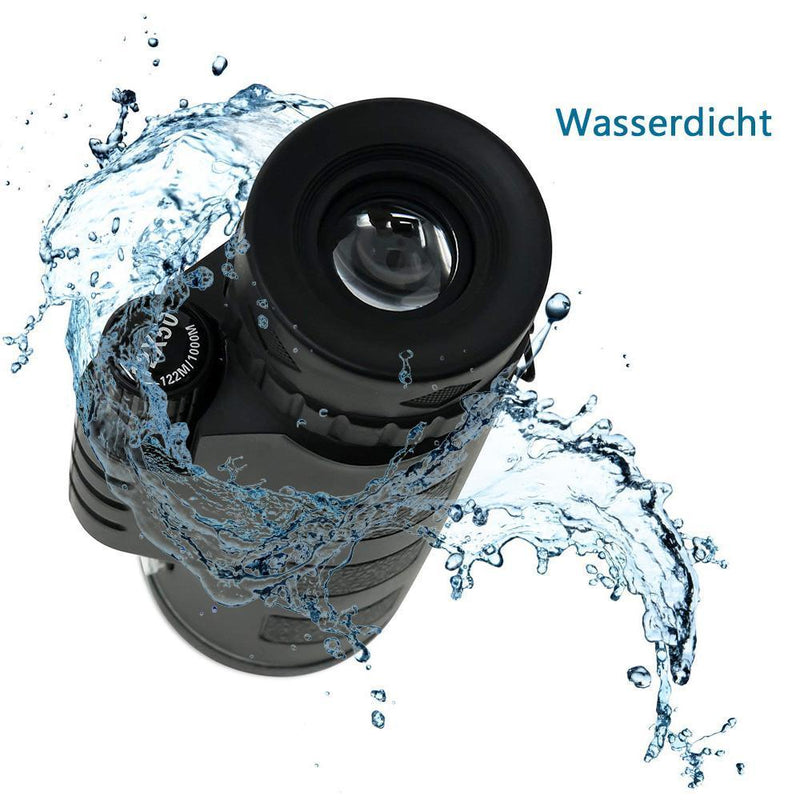 Monocular Telescope, 12x50 High Power wasserdichtes Fogproof - Genialbau