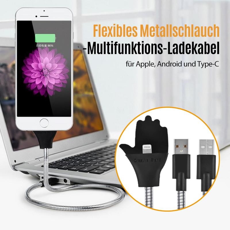 Flexibles Metallschlauch-Multifunktions-Ladekabel