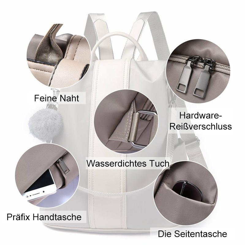 Bequee Antidiebstahle Doppelschultertasche