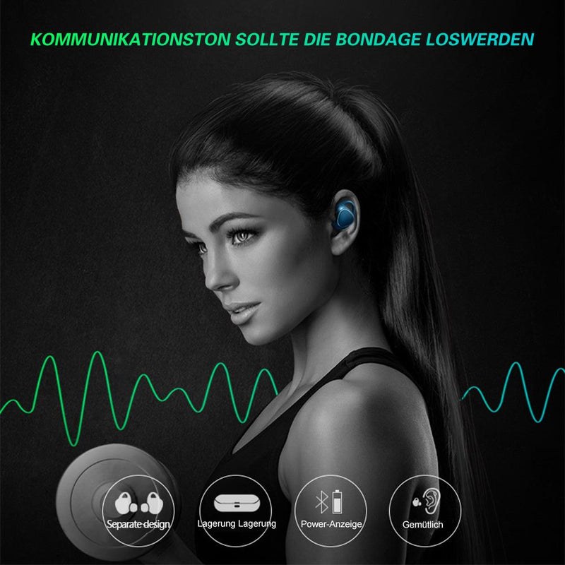 Schnurlose Fitness Wireless Bluetooth Ohrhörer
