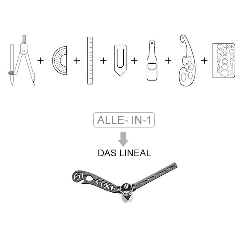 Multifunktionales 7- in- 1 Malen Lineal
