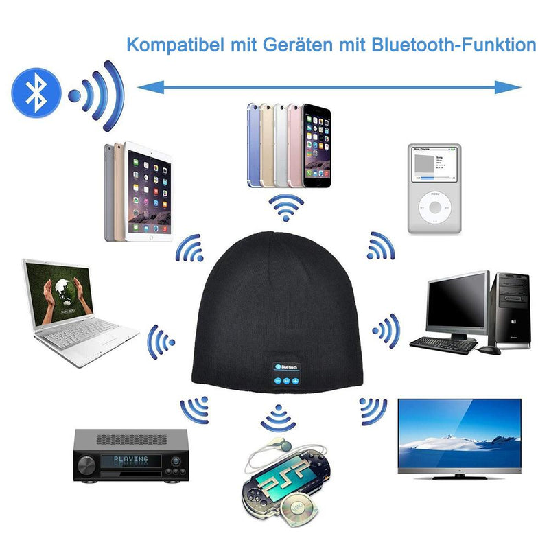 Warme Strickmütze mit 4.2 Bluetooth