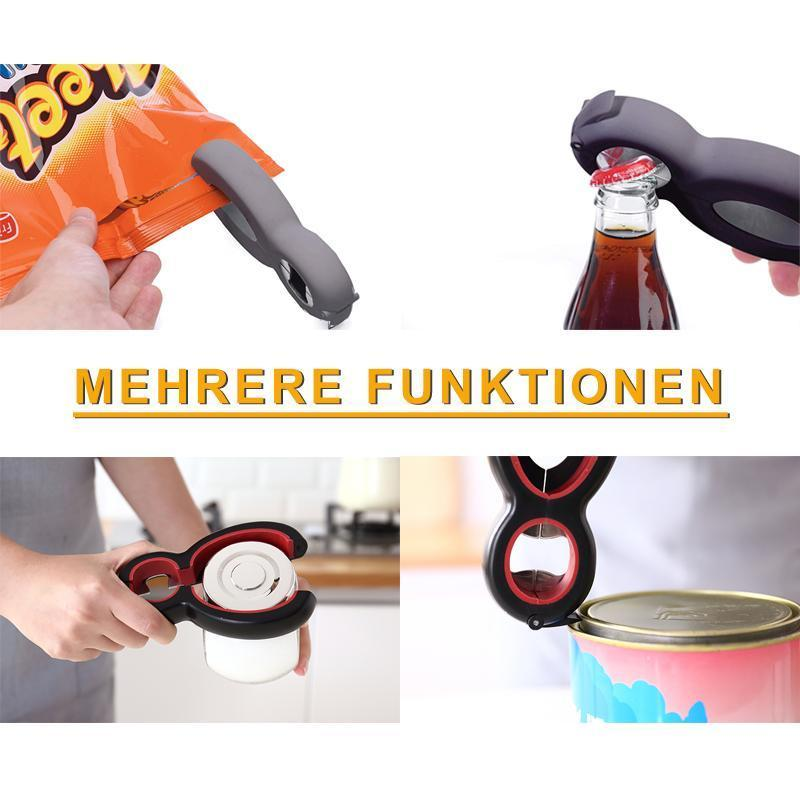6 in1 Multifunktionale Tragbare Flaschenöffner