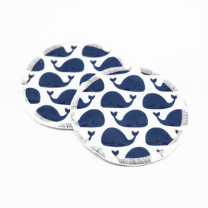 Breastpads - whale pattern