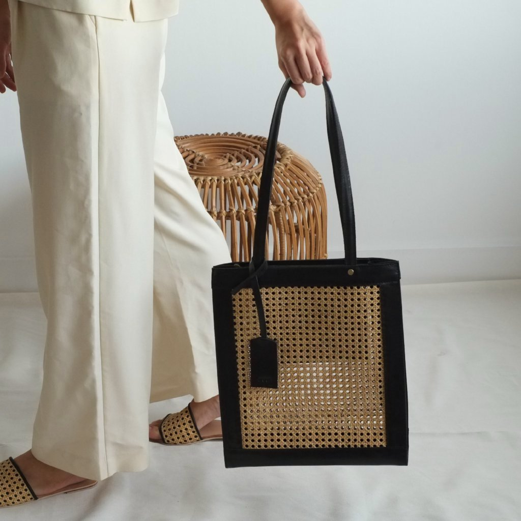 Sia Shopper Tote - Black