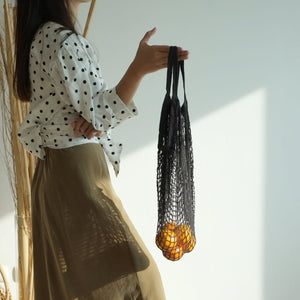 Isla Net Bag (Short Handle) - Black