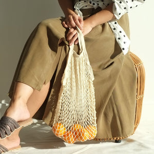 Isla Net Bag (Short Handle) - Cream
