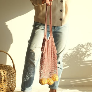 Isla Net Bag (Long Handle) - Old Rose