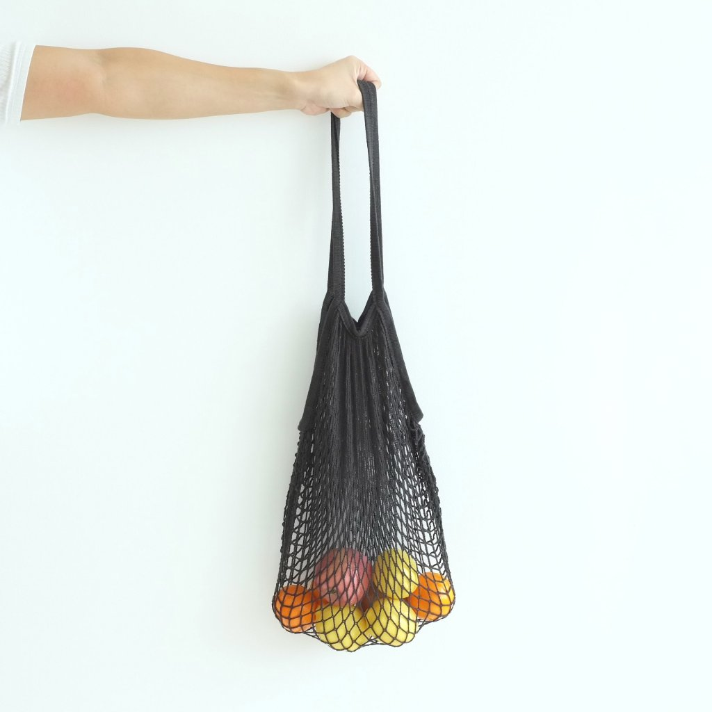 Isla Net Bag (Long Handle) - Black