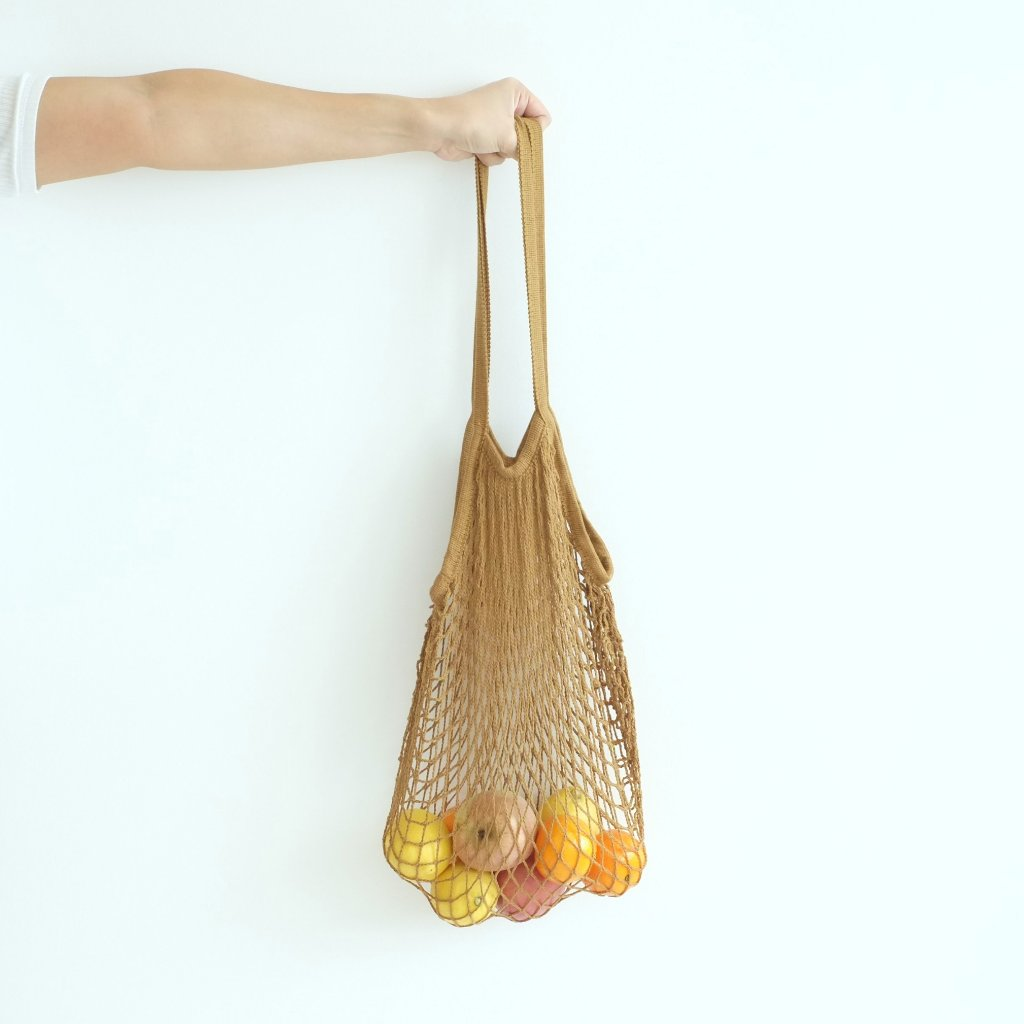Isla Net Bag (Long Handle) - Camel