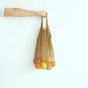 Isla Net Bag (Short Handle) - Camel