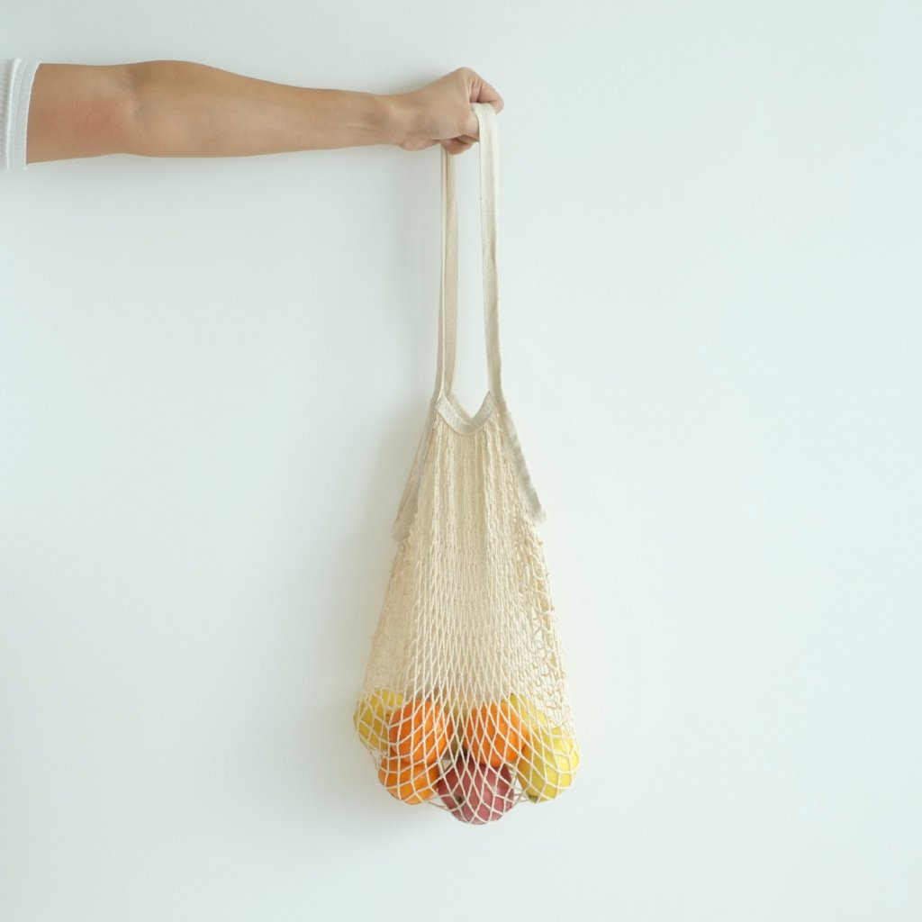 Isla Net Bag (Long Handle) - Cream