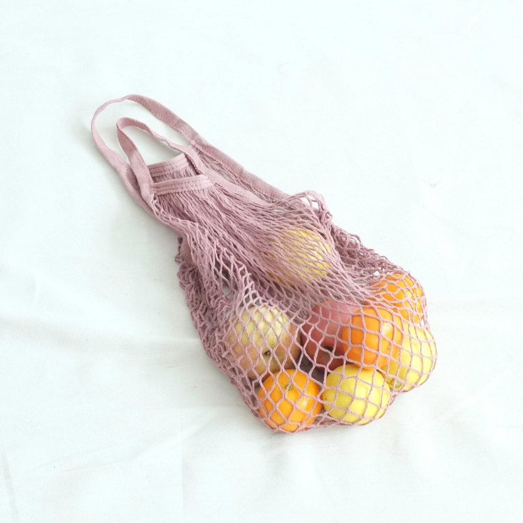Isla Net Bag (Short Handle) - Old Rose