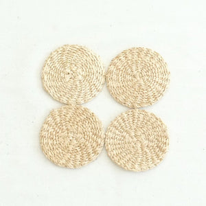 Abaca Round Coaster (Set of 4) - Natural