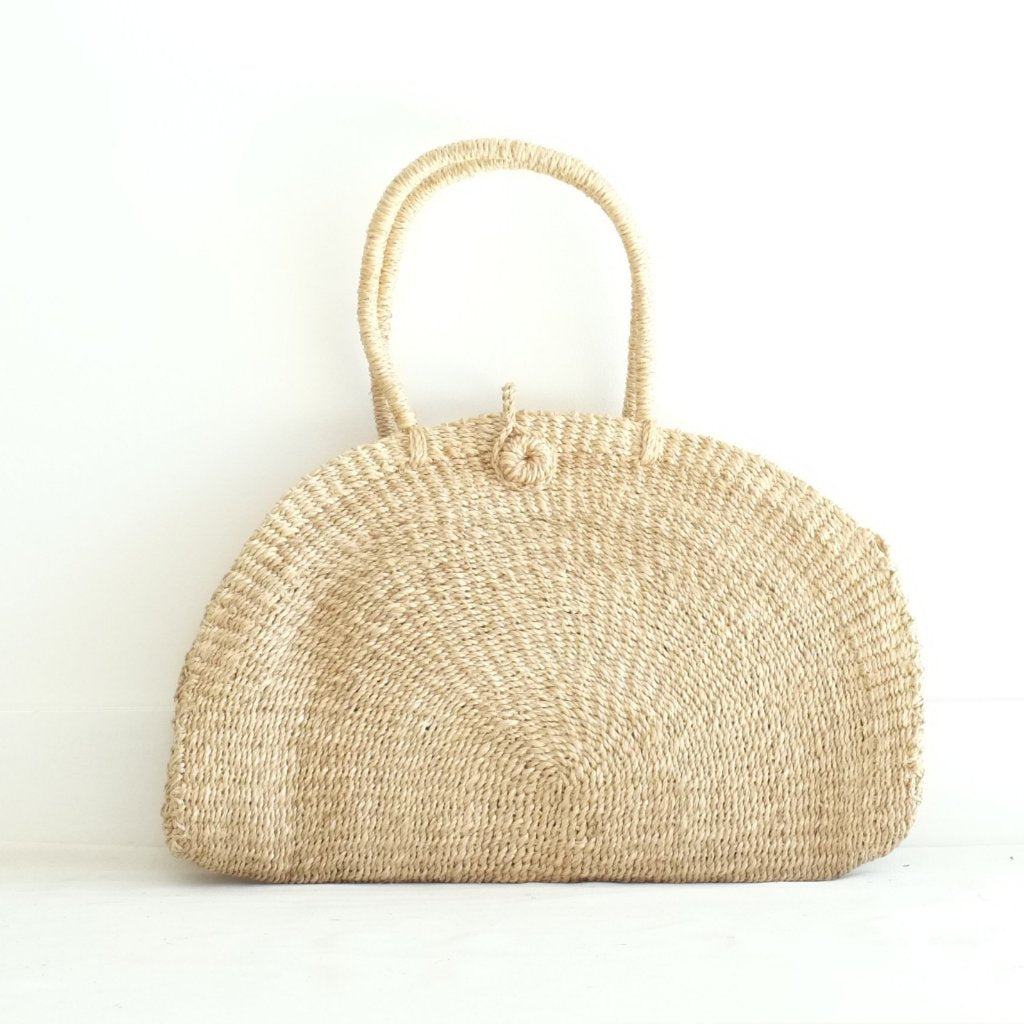 Luna Half-Moon Tote - Natural