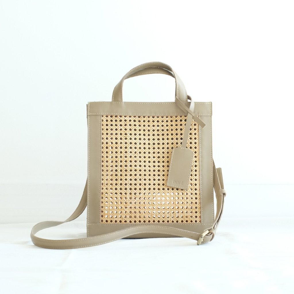 Sia Two-Way Tote - Taupe