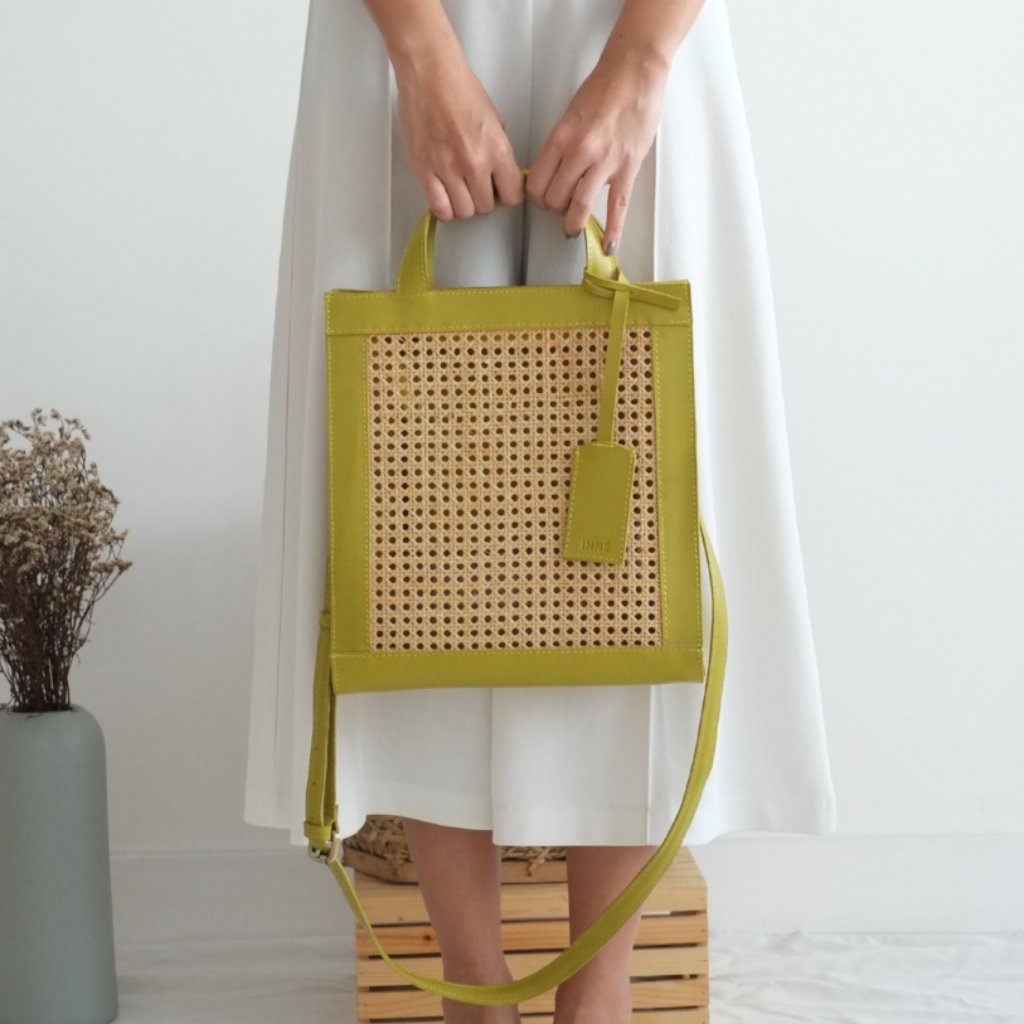 Sia Two-Way Tote - Avocado