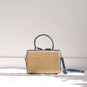 Guita Mini Box Bag - Navy