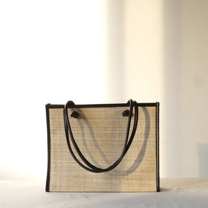 Noa Everyday Tote - Natural / Black