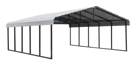 Arrow Shed 20 x 24 Carport Galvanized Steel Roof Carport Arrow Shed