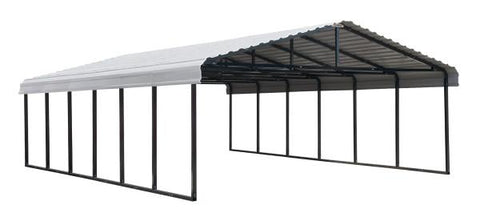 Arrow Shed 20 x 29 Carport Galvanized Steel Roof Carport Arrow Shed