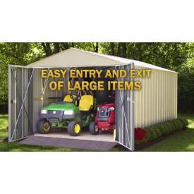 Commander 10x25 Steel Storage Shed Building - The Better Backyard