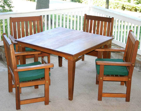 "Creekvine Designs 47"" Cedar  Square Dining Set - The Better Backyard"