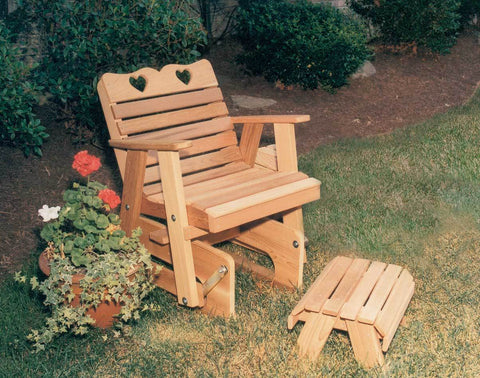 Image of Creekvine Designs Cedar Country Hearts Glider Patio Collection - The Better Backyard