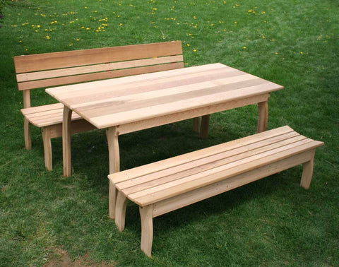 Creekvine Designs Cedar Couple Bench Dining Set - The Better Backyard