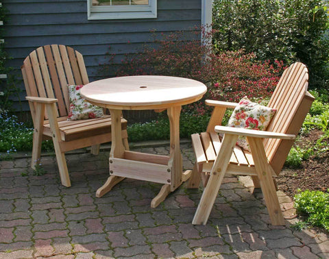 Creekvine Designs Cedar Fanback Bistro Table Chair Set - The Better Backyard