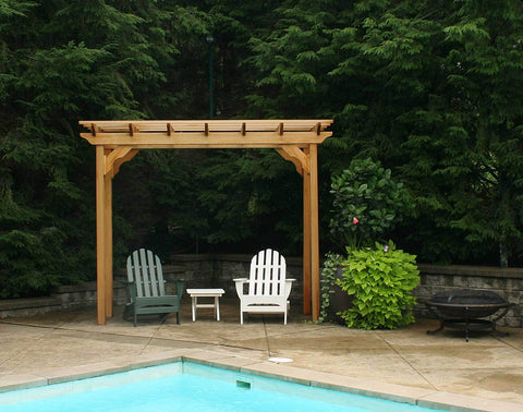 Creekvine Designs Cedar New Dawn Pergola - The Better Backyard