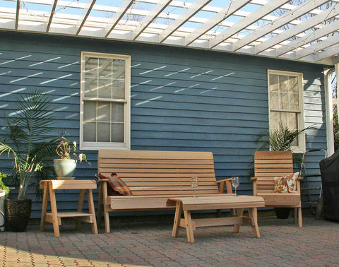 Image of Creekvine Designs Cedar Twin Ponds Set Patio Collection - The Better Backyard