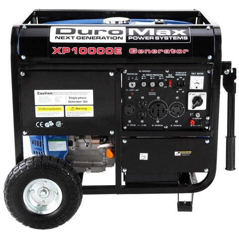 Image of DuroMax 10000-Watt 18-HP Portable Gas Electric Start Generator - The Better Backyard