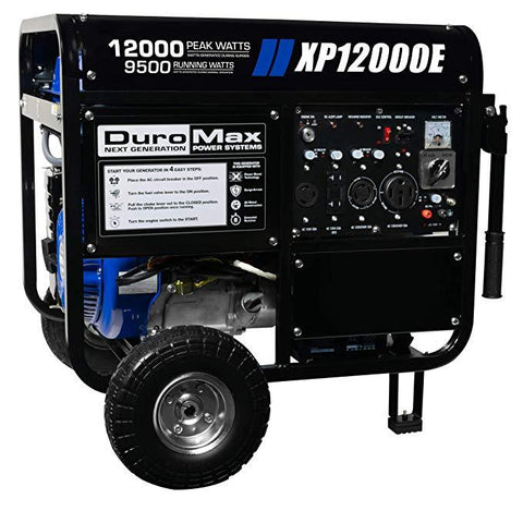 DuroMax 12000 Watt 18 HP Portable Gas Generator - The Better Backyard