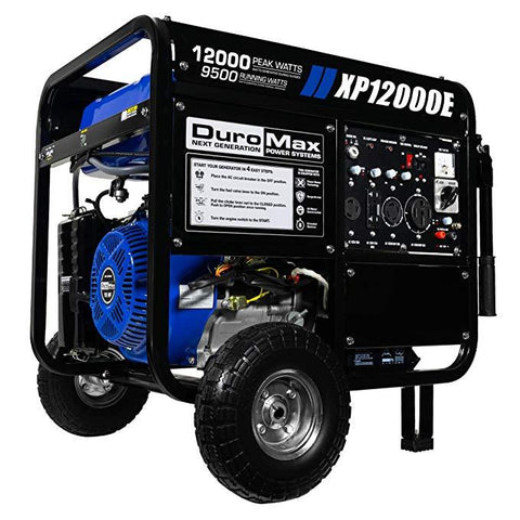Image of DuroMax 12000 Watt 18 HP Portable Gas Generator - The Better Backyard