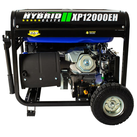 Image of DuroMax 12000-Watt 18 HP Portable Hybrid Gas/Propane Generator - The Better Backyard