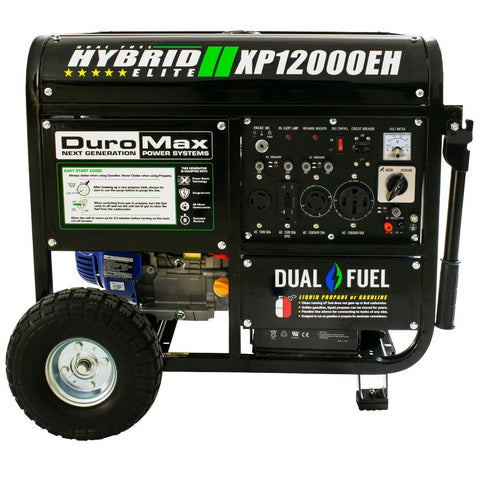 DuroMax 12000-Watt 18 HP Portable Hybrid Gas/Propane Generator - The Better Backyard