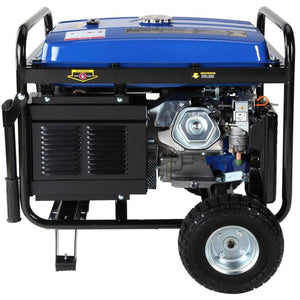 DuroMax 16-Hp Gas 8500 Watt with Electric Start and Wheel Kit Generator - The Better Backyard