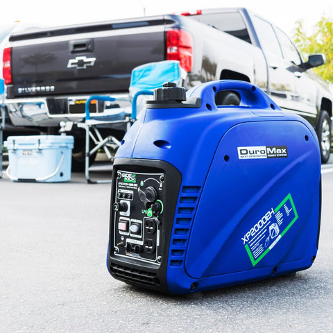 DuroMax 2200-Watt Dual Fuel Digital Inverter Gas/Propane Portable Generator - The Better Backyard