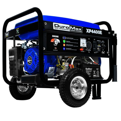 DuroMax 4400-Watt 7-Hp RV Grade Gas with Electric Start and Wheel Kit Generators - The Better Backyard