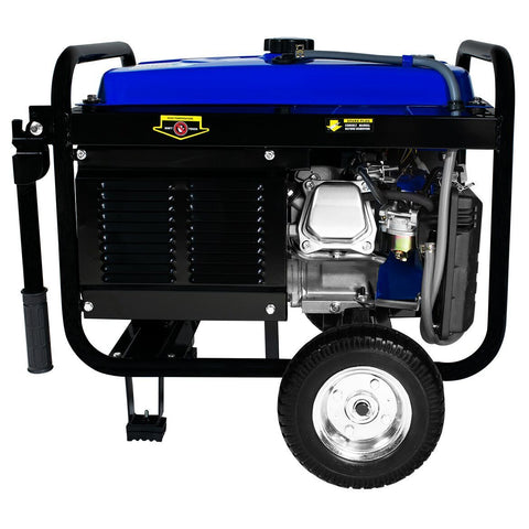 Image of DuroMax 4400-Watt 7-Hp RV Grade Gas with Electric Start and Wheel Kit Generators - The Better Backyard