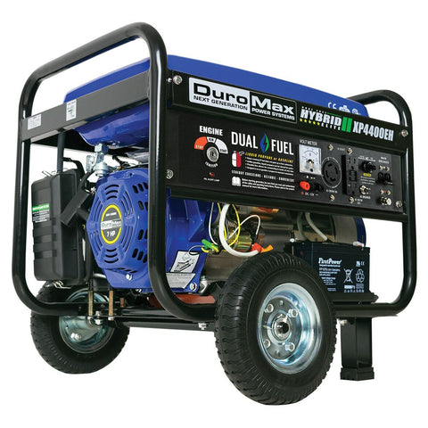 DuroMax 4400-Watt Electric Start Hybrid Gas/Propane Portable Generator - The Better Backyard