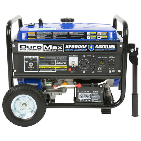 DuroMax 5500-Watt 7.5-Hp 36.6-Amp Portable Electric Start Gas Powered Generator - The Better Backyard