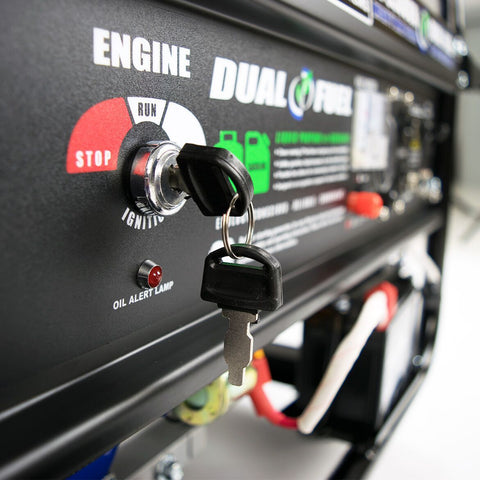 Image of DuroMax 5500-Watt Electric Start Hybrid Gas/Propane Portable Generator - The Better Backyard