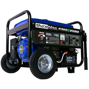 DuroMax 5500-Watt Electric Start Hybrid Gas/Propane Portable Generator - The Better Backyard