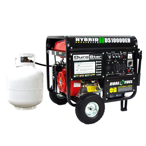 DuroStar 10,000-Watt 18-HP Gas/Propane HYBRID w/ Electric Start Generators - The Better Backyard