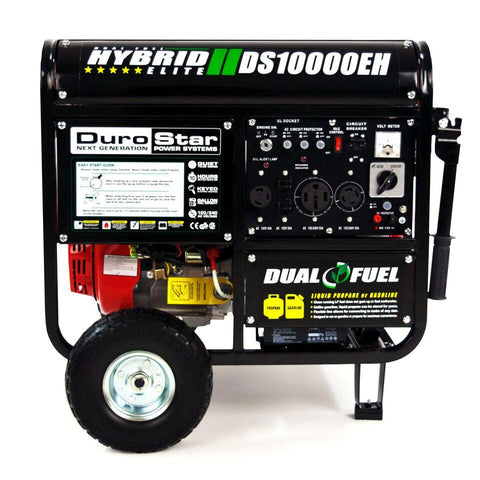 Image of DuroStar 10,000-Watt 18-HP Gas/Propane HYBRID w/ Electric Start Generators - The Better Backyard