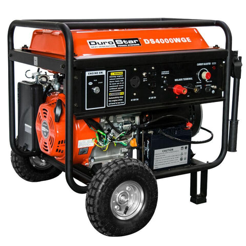 Image of DuroStar 4000 Watt 210 Amp Welding Portable w/ Electric Start Generator - The Better Backyard