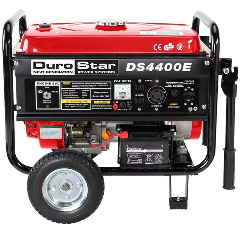 DuroStar 4400-Watt 7-HP Air Cooled OHV Gas w/ Electric Start and Wheel Kit Generator - The Better Backyard